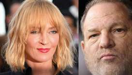US actress Uma Thurman and former Producer Harvey Weinstein