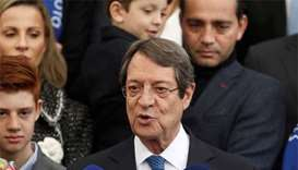 Cyprus president re-elected with eyes on new peace push