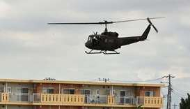 Japan army helicopter