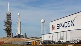New SpaceX jumbo rocket set for debut test launch