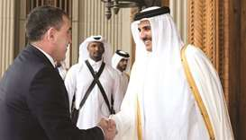 Emir receives message from Russian president
