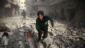 Death toll tops 200 in Syria raids on rebel area: monitor