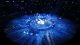 A general view shows the opening ceremony, Pyeongchang Olympic Stadium - Pyeongchang, South Korea