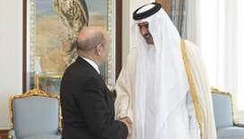 Amir meets French Foreign Minister