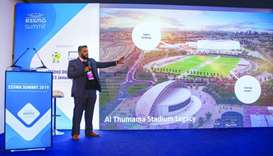 Khalifa al-Mana briefed attendees on the 2022 FIFA World Cup preparations.
