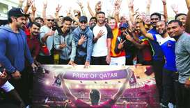 Qatar football team champions from Al-Sadd SC – Akram Afif, Tarek Salman, and Salem al-Hajri – joine