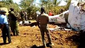 Five killed in plane crash in Kenya: police