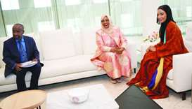 Sheikha Moza meets Somalia's First Lady