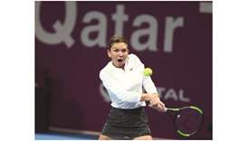 Halep fights back to set up title clash with Mertens