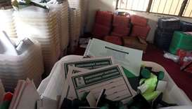 Electoral materials are seen at the Independent National Electoral Commission offices following the