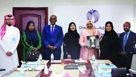Sainab Abdi Moallim with dignitaries and officials during her visit to Dreama