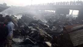 Fire sweeps through Bangladesh slum, killing nine