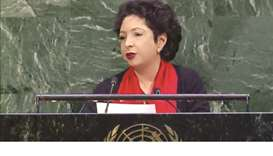 Govt working to address poverty, Lodhi tells UN