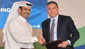 HE the Minister of State for Energy Affairs Saad bin Sherida al-Kaabi and Lorenzo Simonelli, Chairma