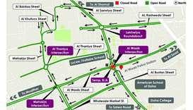 Opening of temporary signalised roundabout at Al Waab Intersection