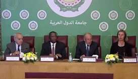 Arab League's Secretary-General, UN envoy discuss Libyan crisis