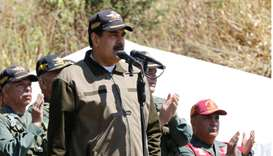 Venezuela's President Nicolas Maduro speaks during a military exercise in in Caracas
