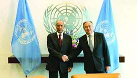 HE the Advisory Council Speaker Ahmed bin Abdullah bin Zaid al-Mahmoud has met in New York with UN S