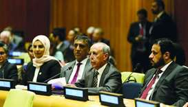 Advisory Council Speaker Ahmed bin Abdullah bin Zaid al-Mahmoud, accompanied by HE the Permanent Rep