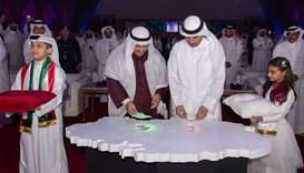 HE the Prime Minister and Interior Minister Sheikh Abdullah bin Nasser bin Khalifa al-Thani and Shei