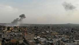 Air strikes up sharply in rebel-held northwest Syria: monitors