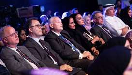 Sheikha Moza attends Doha Debates debut live event