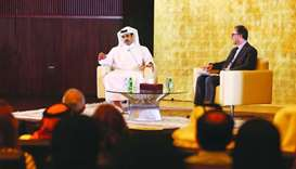 HE al-Kaabi during the forum hosted by Georgetown University in Qatar.