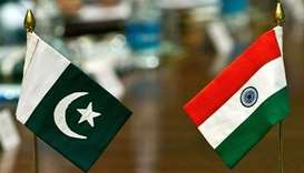 Pakistan and India flags