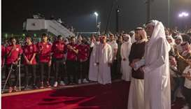 His Highness the Amir Sheikh Tamim bin Hamad al-Thani and His Highness the Personal Representative o