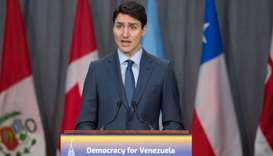 Justin Trudeau delivers his opening statement for the 10th Lima Group in Ottawa, Ontario
