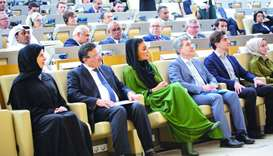 Her Highness Sheikha Moza bint Nasser at the opening ceremony of the conference