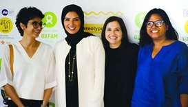 DFI CEO Fatma al-Remaihi with MAMI board member Kiran Rao, festival director Anupama Chopra and crea