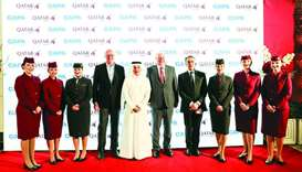 HE Akbar al-Baker, Alexandre De Juniac, Henrik Hololei and CAPA Centre for Aviation executive chairm