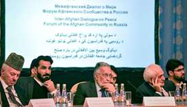 Participants attend the opening of the two-day talks of the Taliban and Afghan opposition representa