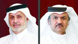 UDC chairman Turki bin Mohamed al-Khater (L), UDC president and chief executive officer Ibrahim Jass
