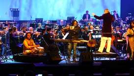 Naveen Kumar performs with Qatar Philharmonic Orchestra