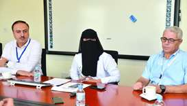 Dr Noora al-Mudahka, flanked by other HMC officials highlights the importance of the review course.