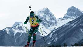 Italy's Dorothea Wierer competes in the shortened individual women's race