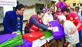 Winterisation aid distribution in Bangladesh.