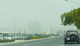 Dusty conditions in Doha yesterday. PICTURE: Shaji Kayamkulam