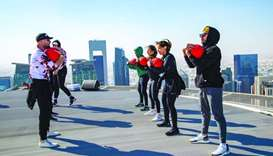 Dogpound held hour-long high-intensity interval training sessions at venues such as Education City,