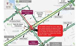 Two weeks closure on Sabah Al Ahmad Corridor