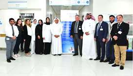 Officials at the opening of the clinic at Al Wakra Hospital.