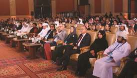 A section of the audience at International Conference on Social Media in Doha yesterday.