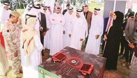 Kahramaa president engineer Essa bin Hilal al-Kuwari and other dignitaries visiting the stall of Vod