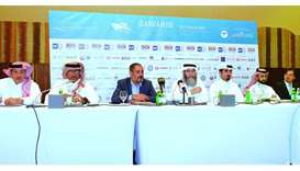 Officials at the press conference. PICTURE: Thajudheen