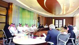 HE Dr Hanan Mohamed al-Kuwari presiding over the meeting.