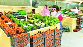 Some of the vegetables sold at Al Mazrouah Yard. PICTURES: Ram Chand