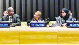HE the Permanent Representative of Qatar to the United Nations, ambassador Sheikha Alya Ahmed bin Sa