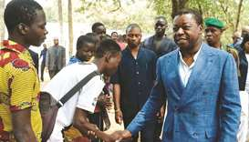 Togolese President Faure Gnassingbe, and candidate of the ruling Union for the Republic (UNIR) party